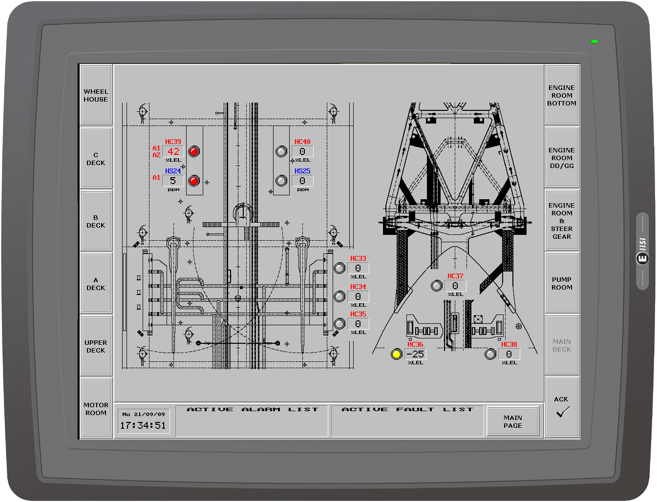 Firegas Fire E Gas Protezioni Antincendio Rivelazione A Engine Diagram Ancb Specializes In Combined Monitoring Systems Connected To Emergency Shut Down Esd Be Installed Aboard Fso And Fpso Units